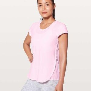 Lululemon Just Pleat It Short Sleeve - Pearl Pink